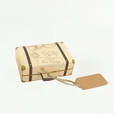 preiswerte Gastgeschenk Boxen & Verpackungen-kubisch Kraftpapier Geschenke Halter mit Muster / Druck Geschenk Schachteln - 100 Stück