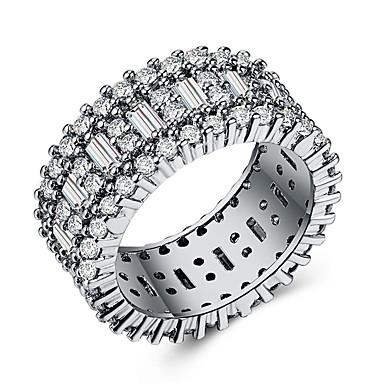 billige Motering-Dame Band Ring Ring Set Evigheten Ring Kubisk Zirkonium 1pc Hvit Kobber Geometrisk Form Stilfull Europeisk Romantikk Bryllup Gave Smykker Klassisk Tro Kul