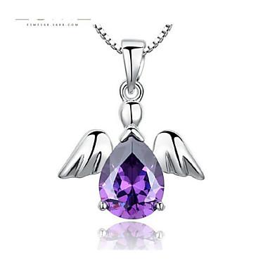 levne Dámské šperky-Dámské Kubický zirkon Náhrdelníky s přívěšky Klasika Andělská křídla Módní Měď Stříbrná 45 cm Náhrdelníky Šperky 1ks Pro Dar Denní