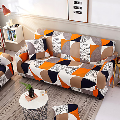 cheap Slipcovers-Slipcovers Sofa Cover highly stretchy Polyester Colorful Stylish Geometric Pattern Couch Cover