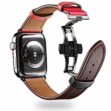 preiswerte Blitzverkauf-Uhrenarmband für Apple Watch Series 5/4/3/2/1 Apple Schmetterling Schnalle Echtes Leder Handschlaufe