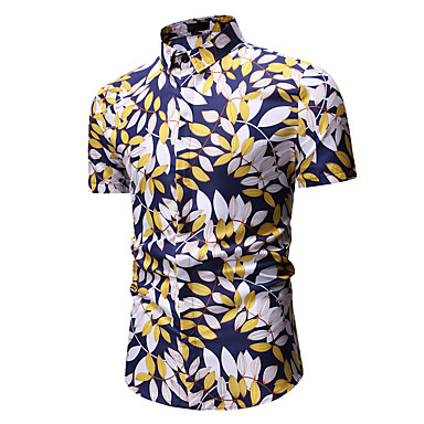 Mens 3D Lip Printed Long Sleeve Hat Guard Blouse Top Short Sleeve Work Shirt