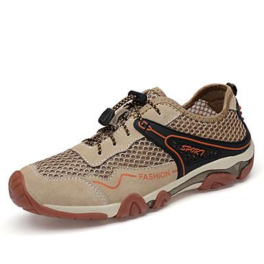 สำหรับผู้ชาย รองเท้าหนังนิ่ม หนังนิ่ม / ตารางไขว้ ฤดูใบไม้ผลิ / ฤดูร้อน Sporty / ไม่เป็นทางการ รองเท้ากีฬา รองเท้าน้ำ ระบายอากาศ ฟ้า / สีเทา / สีกากี / ไม่ลื่นไถล / สวมหลักฐาน