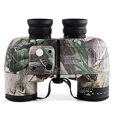 cheap Hunting & Nature-10 X 50 mm Binoculars with Rangefinder and Compass Lenses Waterproof Adjustable Night Vision Fully Multi-coated BAK4 Camping Hiking Hunting Fishing Bird watching Wildlife Watching Natural Rubber