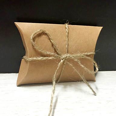 povoljno Svadbeni poklončići-Nepravilan Čisti papir Naklonost Holder s Cinch kabela Poklon kutije