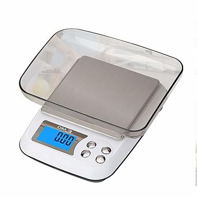 preiswerte Tester & Detektoren-3kg/0.1g Hochauflösend Für die Kinder Tragbar Digitale Schmuckwaage Für Büro und Lehren Familienleben Küche täglich