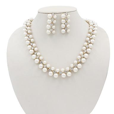levne Dámské šperky-Dámské Sady šperků Třešňová Ovoce dámy Evropský Módní Napodobenina perel Náušnice Šperky Zlatá Pro Svatební Párty