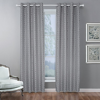 [$39.95] European Room-darkening One Panel Curtain Bedroom Curtains /  Jacquard
