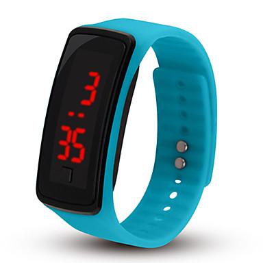 levne Pánské-Pro páry Sportovní hodinky Digitální Pryž Černá / Růžová / Tyrkysová Ne LCD Digitální Módní - Modrá Růžová Světle modrá Jeden rok Životnost baterie