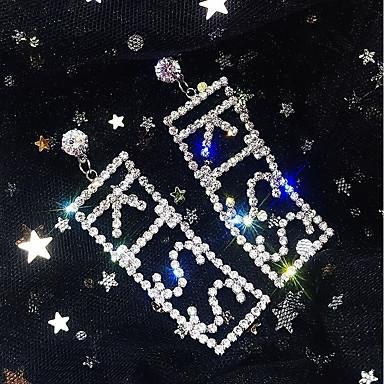 povoljno Modne naušnice-Žene Viseće naušnice Jastuk Statement Imitacija dijamanta Naušnice Jewelry Zlato / Pink Za Vjenčanje Party Karneval Klub Jabuka 1 par