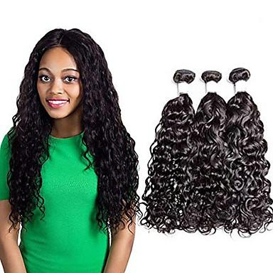 povoljno Ekstenzije od ljudske kose-3 paketa Brazilska kosa Water Wave Remy kosa Ljudske kose plete Produžetak Bundle kose 8-28 inch Prirodna boja Isprepliće ljudske kose Nježno Jednostavan dressing Novi Dolazak Proširenja ljudske kose