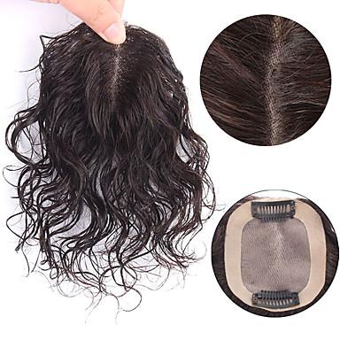 povoljno Ekstenzije za kosu-Laflare Isječak U / S perika Proširenja ljudske kose Kovrčav Ljudska kosa Produžetak Ekstenzije od ljudske kose Kose za kosu Brazilska kosa 1 komad Modni dizajn Nježno Najbolja kvaliteta Žene Crna