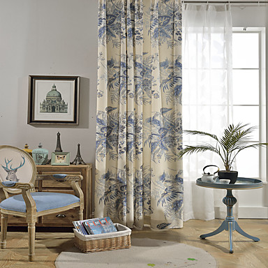 Contemporary Blackout One Panel Curtain Living Room Curtains 7214156 ...
