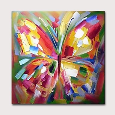 povoljno Ulja na platnu-Hang oslikana uljanim bojama Ručno oslikana - Sažetak Pop art Klasik Moderna Uključi Unutarnji okvir