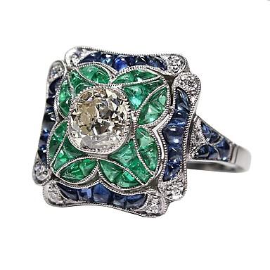 billige Motering-Dame Forlovelsesring tommelfingerring 1pc Lys Grønn Legering Elizabeth Locke Bursdag Gave Smykker Artisan Smuk