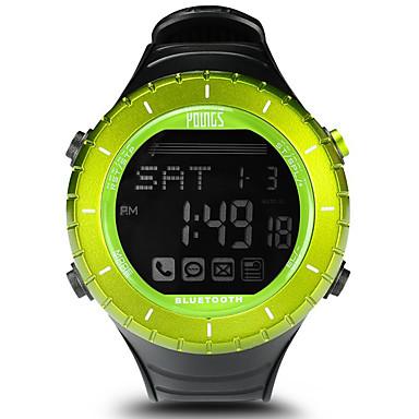 levne Dámské-Dámské Sportovní hodinky Outdoor Módní Černá Pryž japonština Digitální Trávová zelená Voděodolné Smart Bluetooth 100 m 1 sada Digitální Jeden rok Životnost baterie / LCD / Panasonic CR2032