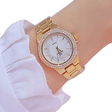 levne Dámské-Dámské Luxusní hodinky Křemenný Luxus Klasické Stříbro Zlatá Růžové zlato Slitina Swiss Křemenný Zlatá Stříbrná Růžové zlato Chronograf 30 m 1 ks Analogové Dva roky Životnost baterie
