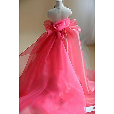 """Bridal Ondulado De Volantes De Organza Tela-Rojo 54 /""""de ancho vendido por yarda Vestido Decoración"""