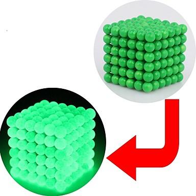 preiswerte Magnetspielsachen-216 pcs 3 mm Magnetspielsachen Magnetisches Spielzeug Magnetische Bälle Magnetspielsachen Superstarke Magnete aus seltenem Erdmetall Puzzle Würfel Neodym - Magnet Im Dunkeln leuchtend Stress und