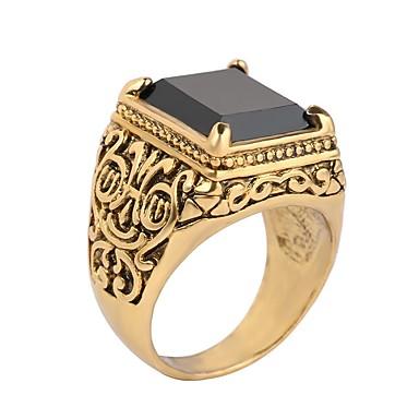 levne Pánské šperky-Pánské Prsten Pečetní prsten 1ks Černá Červená Zlatá / černá Pryskyřice Slitina Armáda skotský Narozeniny Dar Šperky Levný Magie Cool