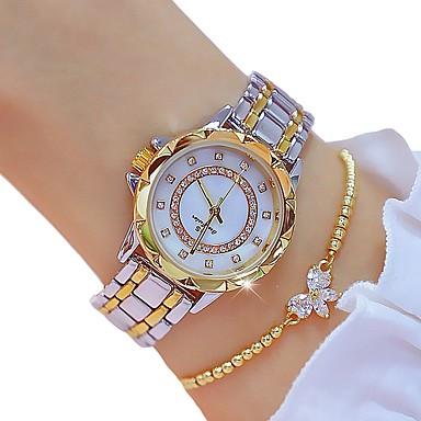 levne Dámské-Dámské Křemenný zlaté hodinky Klasické Skládaný Zlatá Slitina Swiss Křemenný Zlatá Chronograf 30 m 2ks Analogové Dva roky Životnost baterie