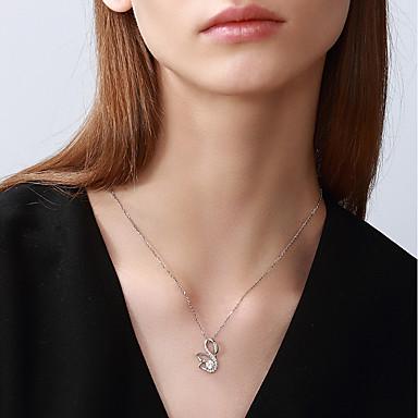 povoljno Modne ogrlice-Žene Ogrlica Labud Moda Small S925 Sterling Silver Obala 42+3 cm Ogrlice Jewelry 1pc Za Dar Dnevno