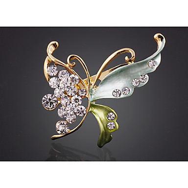 Žene Broševi Klasičan Rukav leptir pomodan Moda Broš Jewelry Zelen Plava Svjetlosmeđ Za Party Festival