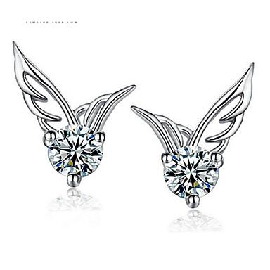 levne Dámské šperky-Dámské Bílá Kubický zirkon Náušnice Klasika Andělská křídla Sladký Náušnice Šperky Bílá Pro Narozeniny Denní 1 Pair