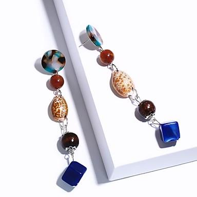 levne Dámské šperky-Dámské Visací náušnice Dlouhé Barevná Mušle Náušnice Šperky Duhová Pro Svatební Párty Ležérní Dovolená Jdeme ven 1 Pair
