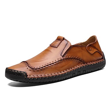 men's leather shoes nappa leather / cowhide spring
