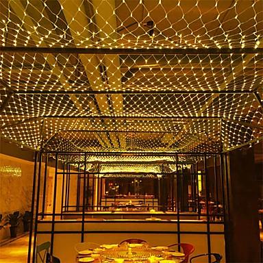 preiswerte LED Lichterketten-6 mt * 4 mt 672 leds net licht vorhang lichter whitewarm whitebluemulti farbe party dekorative verbindbar