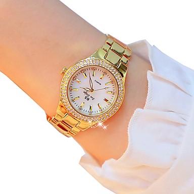 levne Dámské-Dámské Křemenný zlaté hodinky Outdoor Módní Stříbro Zlatá Slitina Swiss Křemenný Zlatá Stříbrná Chronograf 30 m 1 ks Analogové Dva roky Životnost baterie