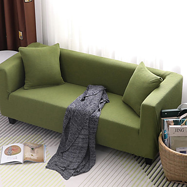 cheap Slipcovers-Sofa Cover Solid Colored / Classic / Contemporary Reactive Print Elastic Woven Satin Slipcovers