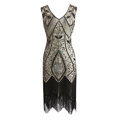 fbd76fc3d35 The Great Gatsby Vintage 1920s Costume Women s Party Costume Masquerade  Flapper Dress Red   black   Green   Black   White Vintage Cosplay Sequin  Party Prom ...