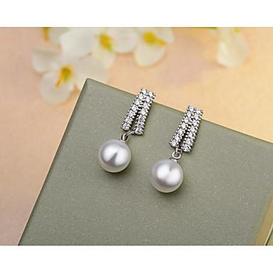 Žene Viseće naušnice Geometrijski Stilski Jednostavan Biseri Naušnice Jewelry Pink Za Vjenčanje Dnevno Spoj 1 par