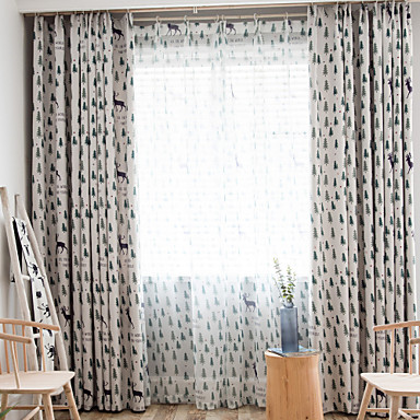 [$44.27] Christmas Blackout One Panel Curtain Living Room Curtains