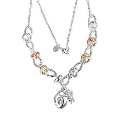 2e7f960967b0 Mujer Clásico Collares con colgantes Collares de cadena Collar Plateado  Corazón Diseño Único De moda Romántico Moda Bonito Encantador Boda Plata 46  cm ...