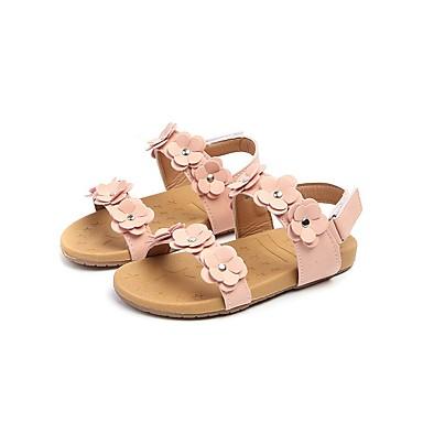 levne Dětské botičky-Dívčí Pohodlné PU Sandály Batole (9m-4ys) / Malé děti (4-7ys) Bílá / Růžová Léto