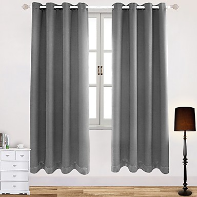 [$37.79] Contemporary Blackout One Panel Curtain Living Room Curtains