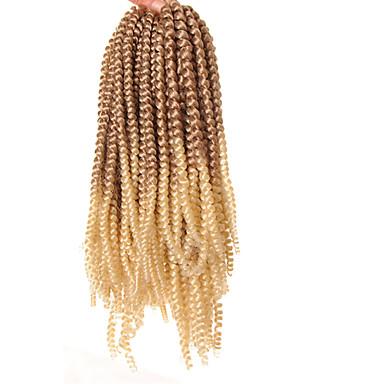 povoljno Ekstenzije za kosu-Kosa koja se plete Kovrčav Kukičaste pletenice za kosu Sintetski ekstenzije Sintentička kosa 1 kom. Sušilo za pletenice Crna 8 inča sintetički Faux Locs Perika Pleteni umjetni dredlocksi Zabava