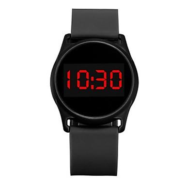 levne Pánské-OHSEN Pro páry Digitální hodinky Digitální Silikon Černá / Bílá / Modrá kreativita Nový design Svítící Digitální Na běžné nošení - Černá Fuchsiová Modrá