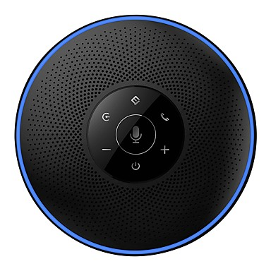 cheap Office & School-eMeet M2 Bluetooth Conference Speakerphone for 5-8 People Business Conference Call 360 Voice Pickup 4AI Microphone Self-Adaptive Conference Speakerphone Skype Webinar Phone