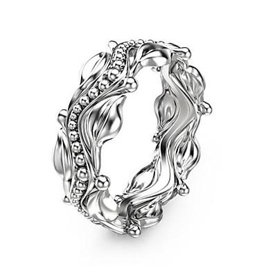billige Motering-Dame Statement Ring Ring Micro Pave Ring Kubisk Zirkonium 1pc Hvit Kobber Platin Belagt Geometrisk Form Unikt design Europeisk trendy Bryllup Fest Smykker Klassisk Blomst Kul