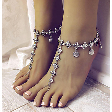 cheap Body Jewelry-Ankle Bracelet feet jewelry Stylish Boho Holiday Women's Body Jewelry For Causal Daily Coin Alloy Silver 1pc