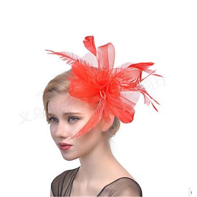 levne Dámské šperky-Dámské dámy Vintage Party Elegantní Peří Látka Diadémy Svatební Večírek - Květinový