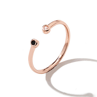 billige Motering-Dame Ring Kubisk Zirkonium 1pc Gull Sølv Kobber Strass C-form Personalisert Enkel Unikt design Gave Daglig Smykker Retro Dråpe Søtt