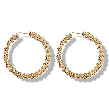 preiswerte Creolen Ohrringe-Damen Kreolen Machete Ohrringe Schmuck Gold / Silber Für Hochzeit Normal Arbeit Klub 1 Paar