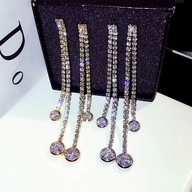 preiswerte Lange Ohrringe-Damen Tropfen-Ohrringe Lang Anhänger Stil Diamantimitate Ohrringe Schmuck Gold / Silber Für Hochzeit Party Maskerade Klub Bar 1 Paar