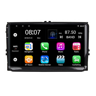 cheap Car DVD Players-Factory OEM YYD-9010G 9 inch 2 DIN Android 8.1 In-Dash Car DVD Player Quad Core for Volkswagen RCA / Audio / GPS Support MOV / M3V / AMV MP3 / WMA / WAV JPEG / GIF / BMP