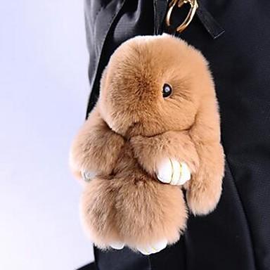 preiswerte Schlüsselanhänger-Rabbit Schlüsselanhänger Gelb Braun Pelz Für
